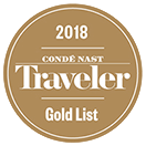 2018 Condé Nast Traveler Gold List
