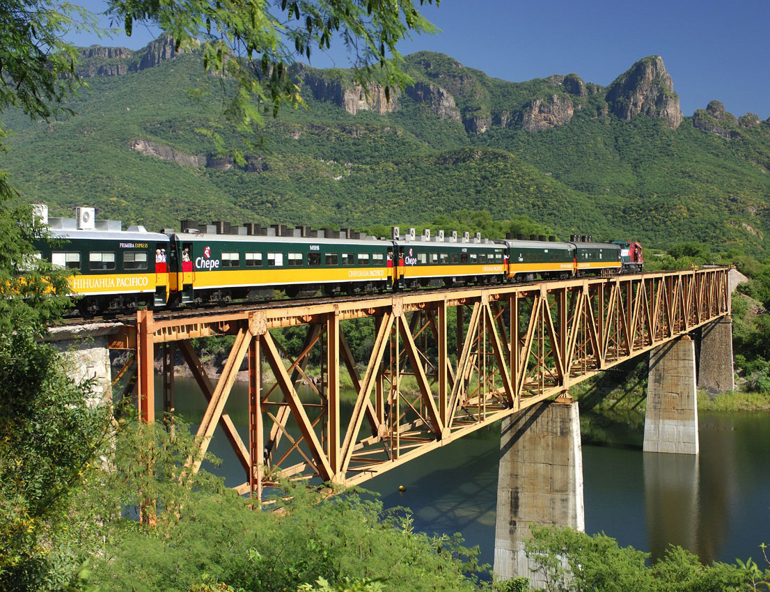 An exciting train ride through the Copper Canyon is a popular shore excursion in Mexico.