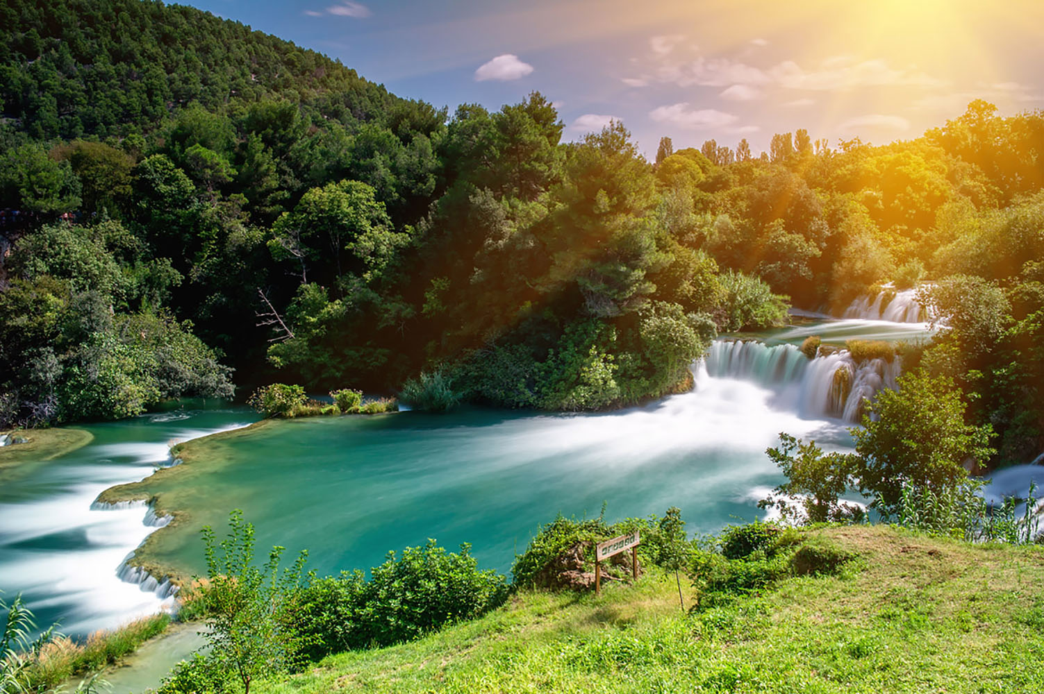 Fall in love with Krka's waterfalls while in Croatia.