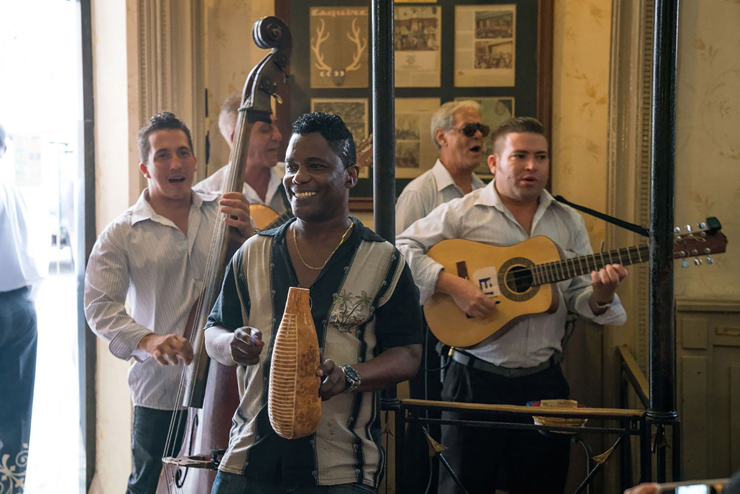Cubans playing Nuevo Trova, a type of Cuban music