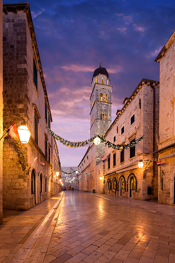 Both Azamara country-intensive voyages to Croatia feature late night stays in Dubrovnik, and the city is simply spectacular at sunset.