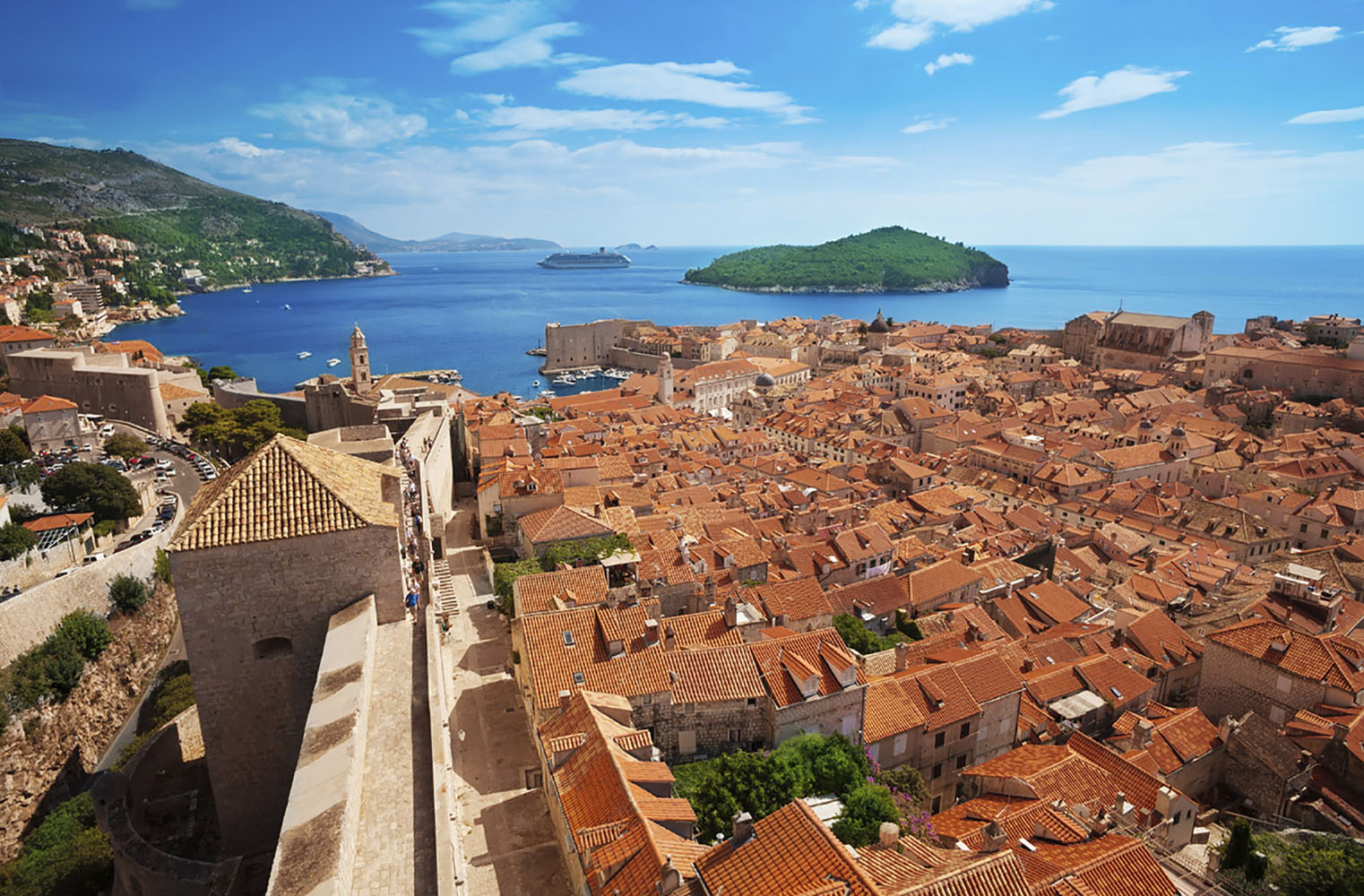 One of the highlights of traveling to Croatia is visiting the country's incredible walled towns, like Dubrovnik.