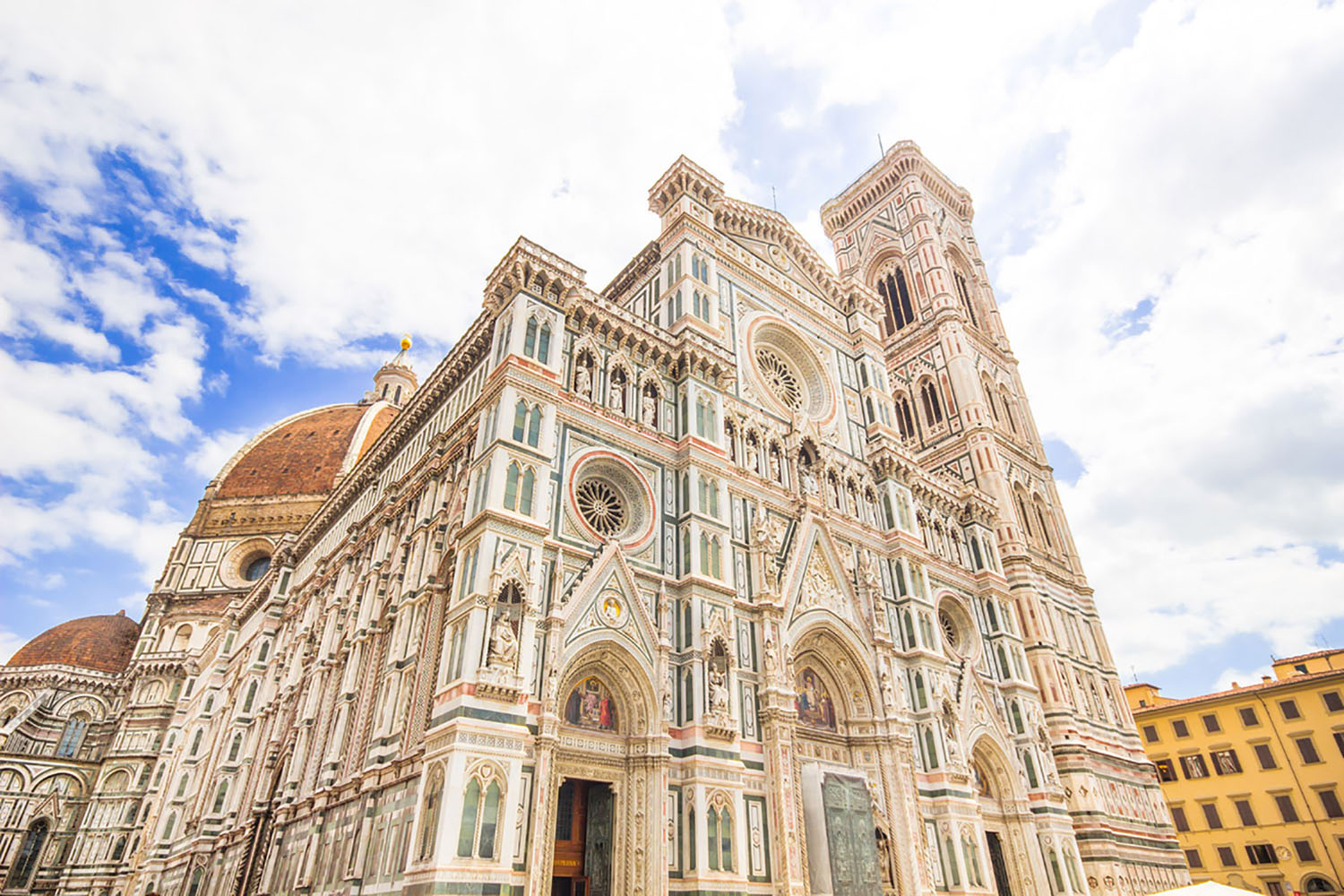 The facade of the Florence Cathedral.