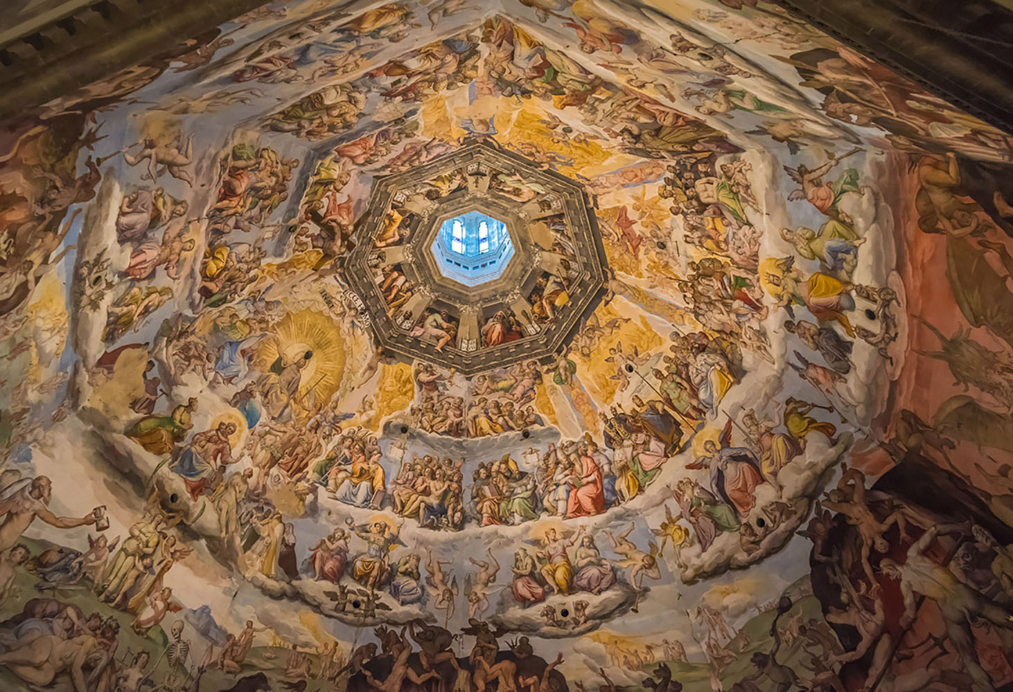 The interior of the Florence Cathedral's dome.