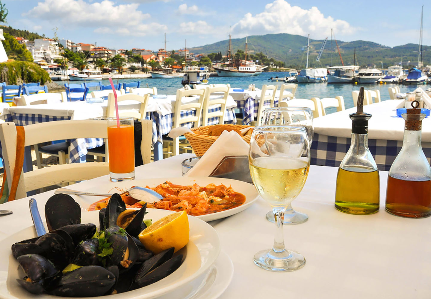 Enjoy the diverse cuisine of Greece when you cruise there with Azamara.