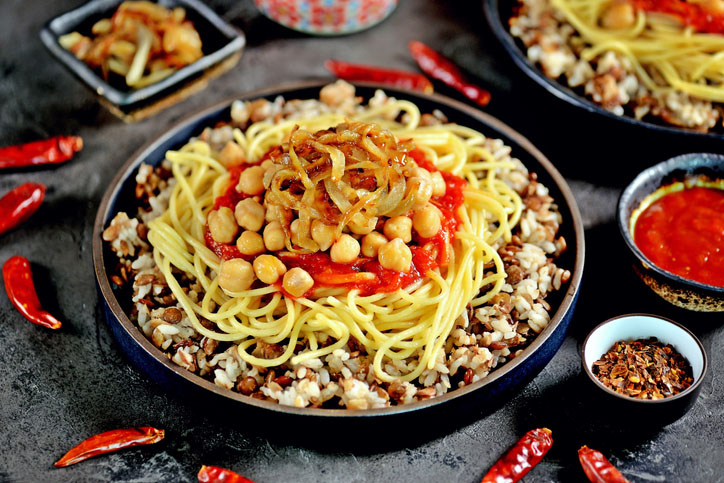 A bowl of kushari