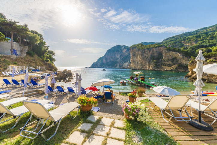 Beach in Corfu Island