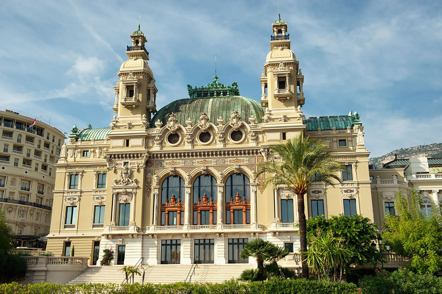 The Casino of Montecarlo in Monaco at midday