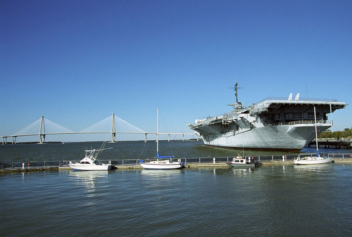 The USS Yorktown in Charleston, South Carolina