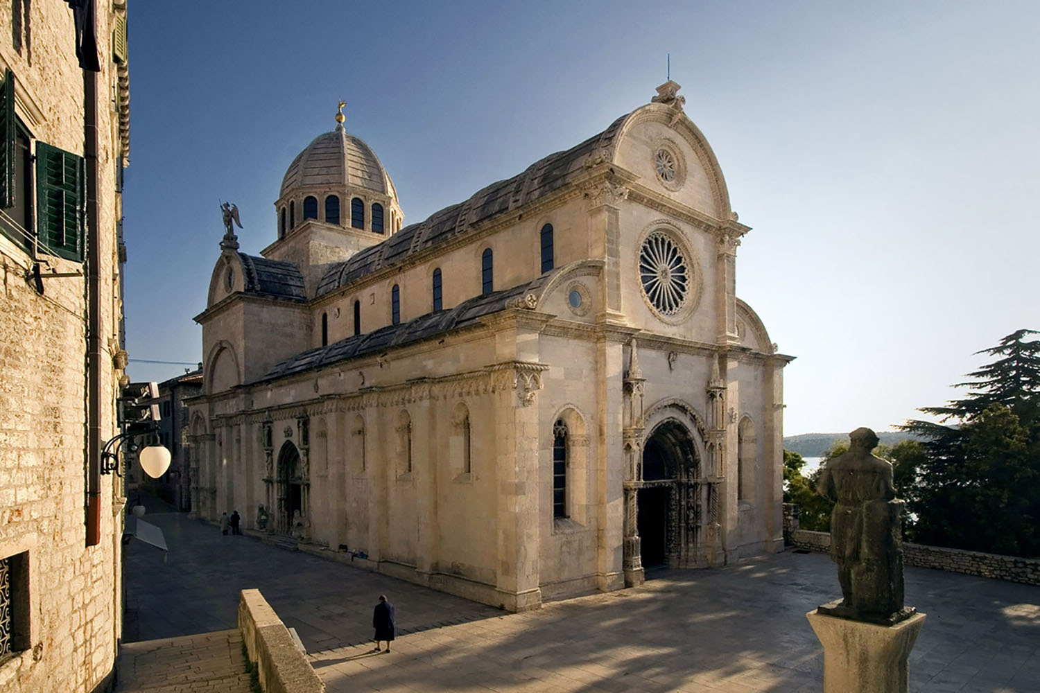 The Cathedral of St. James in Sibenik, Croatia on a clear day
