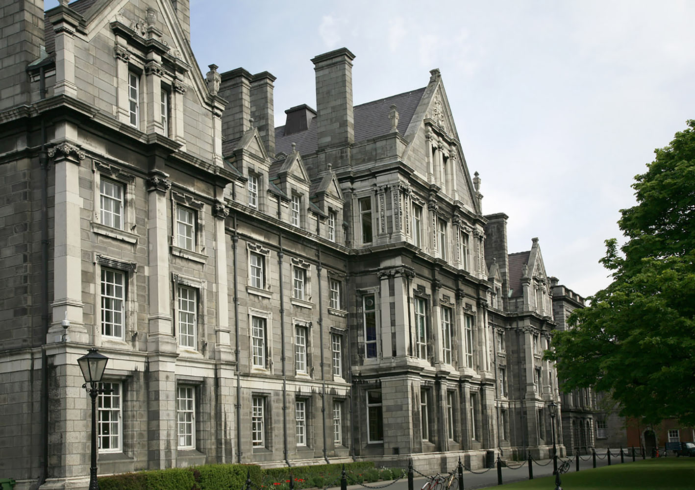 Trinity College campus in Dublin is a beautiful place to explore.