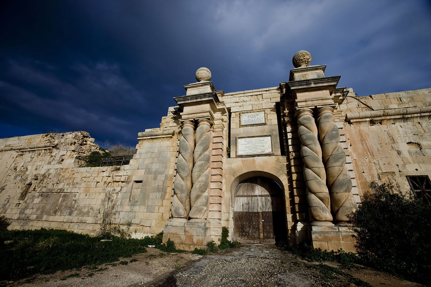 The Entrance to Fort Ricasoli in Valletta, Malta