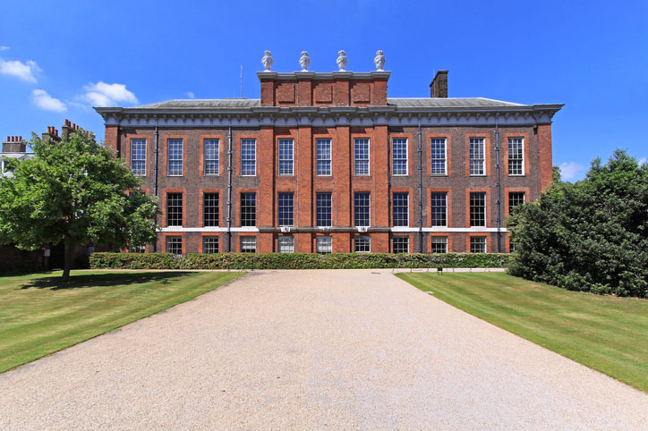 The outside view of Kensington palace