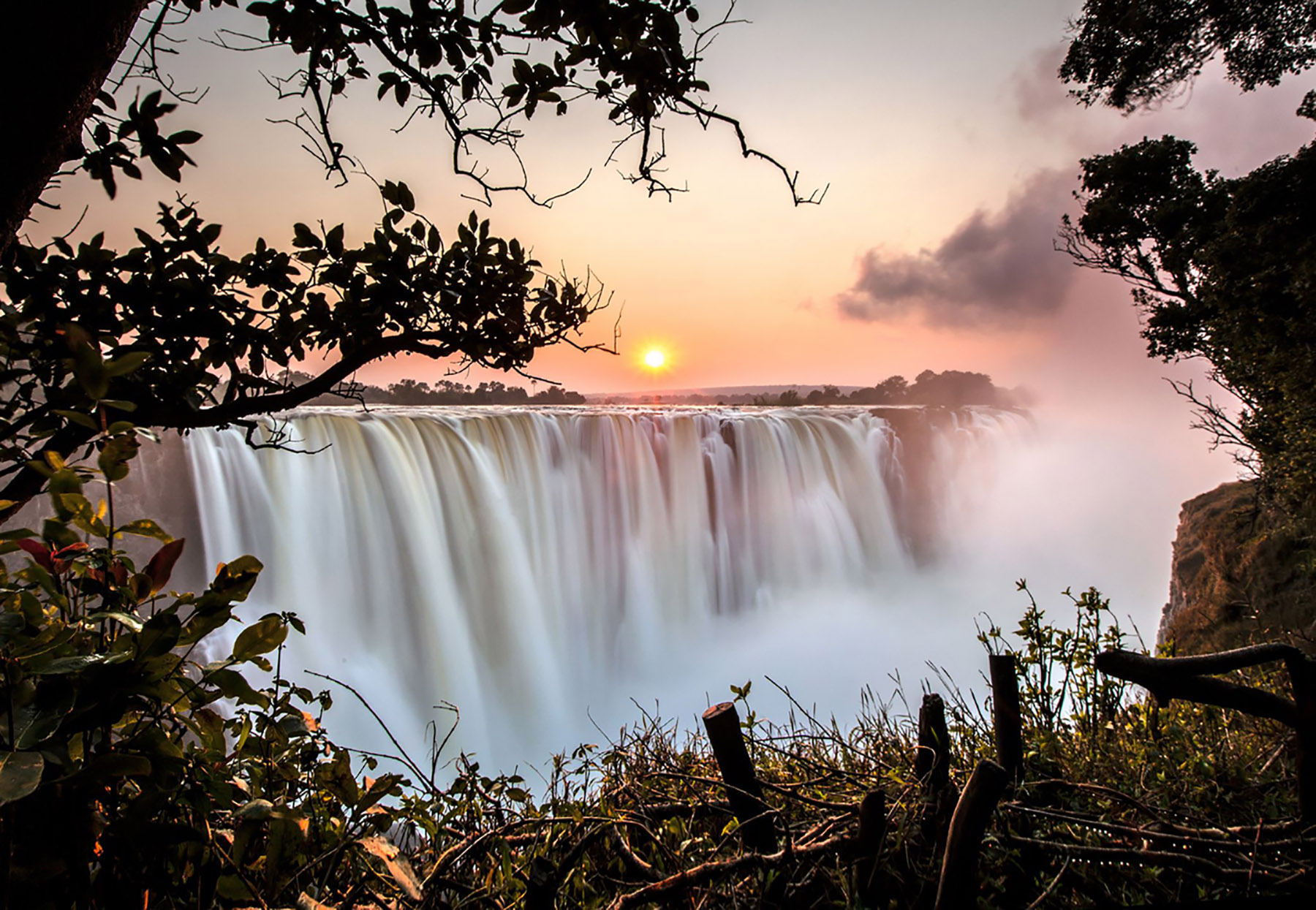 Sunrise at Victoria Falls