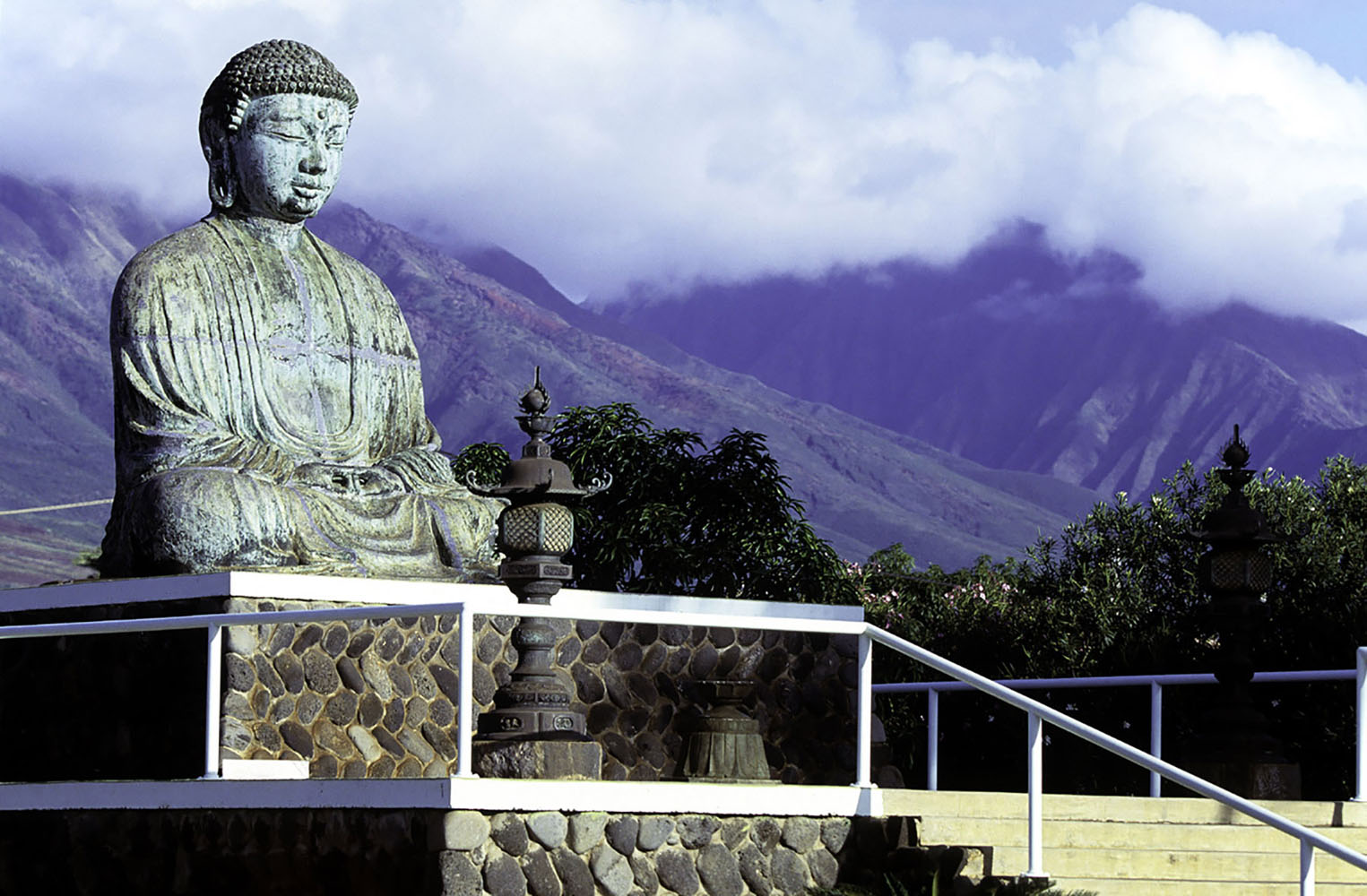 One of the largest Buddha statues in the world at the Jodo Mission in Lahaina
