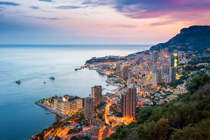 Sunset on Monte Carlo, Monaco