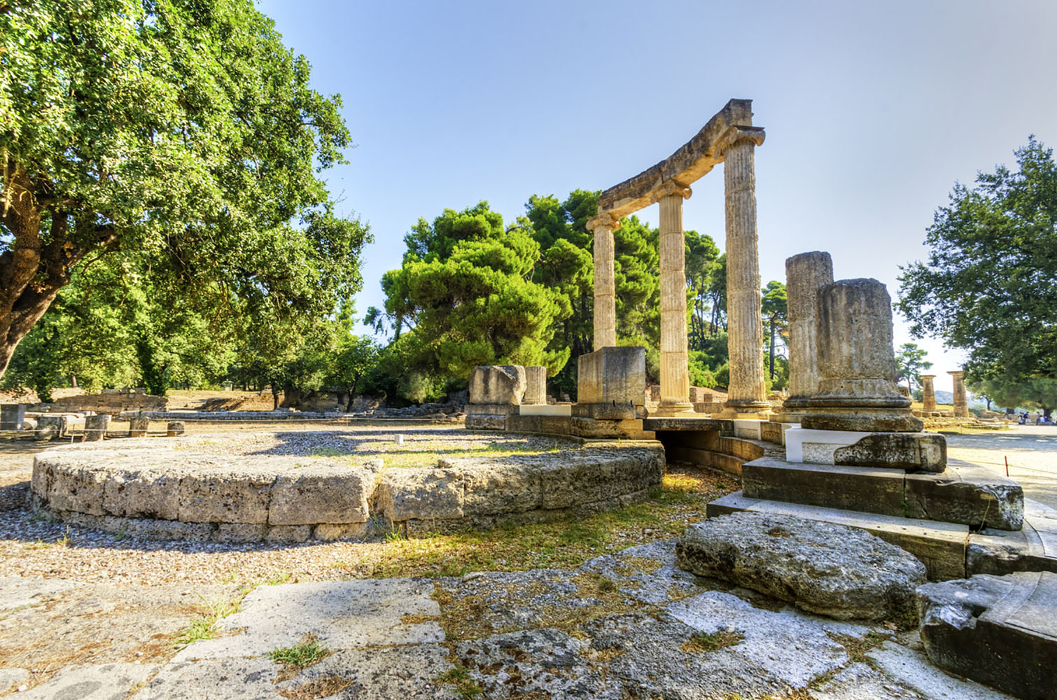 Ruins of the ancient site of Olympia. Greece