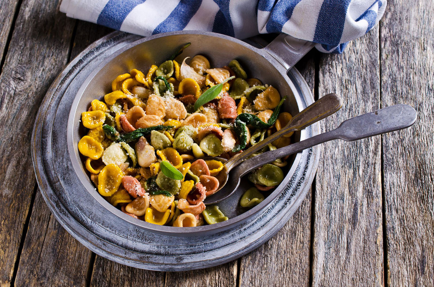 Orecchiette Pasta with garlic and sage