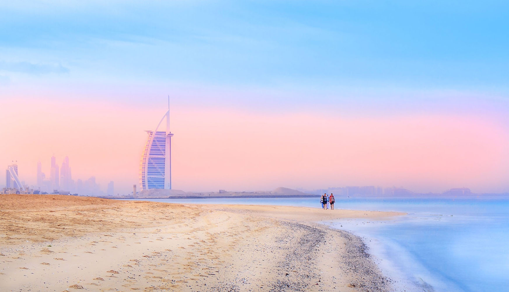 The Burj al Arab as seen from the beach