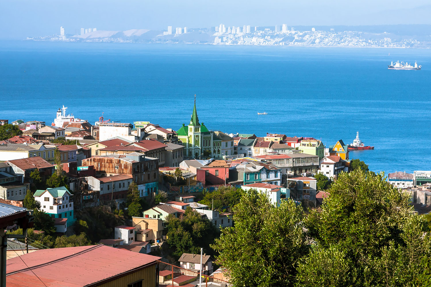 An aerial view of Valparaiso, Chile.
