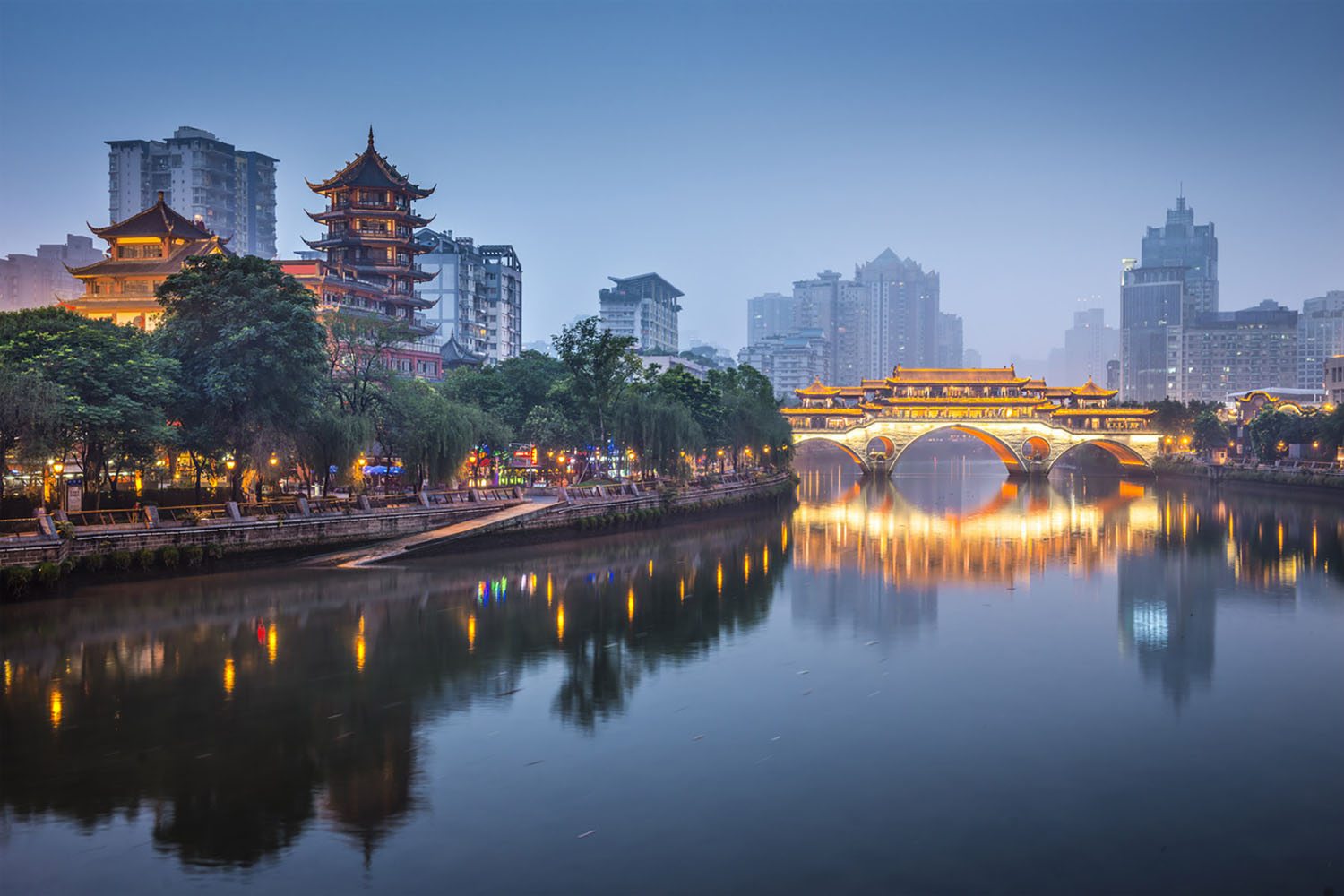 The Anshun Bridge in Chengdu, Sichuan, China