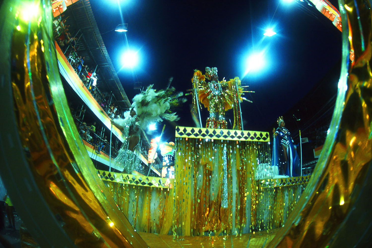 A sparkling Rio Carnival float.