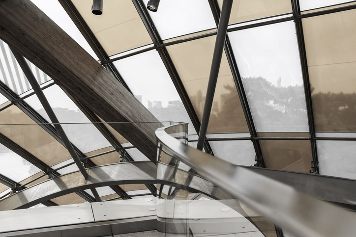 Interior of Fondation Louis Vuitton in Paris, France