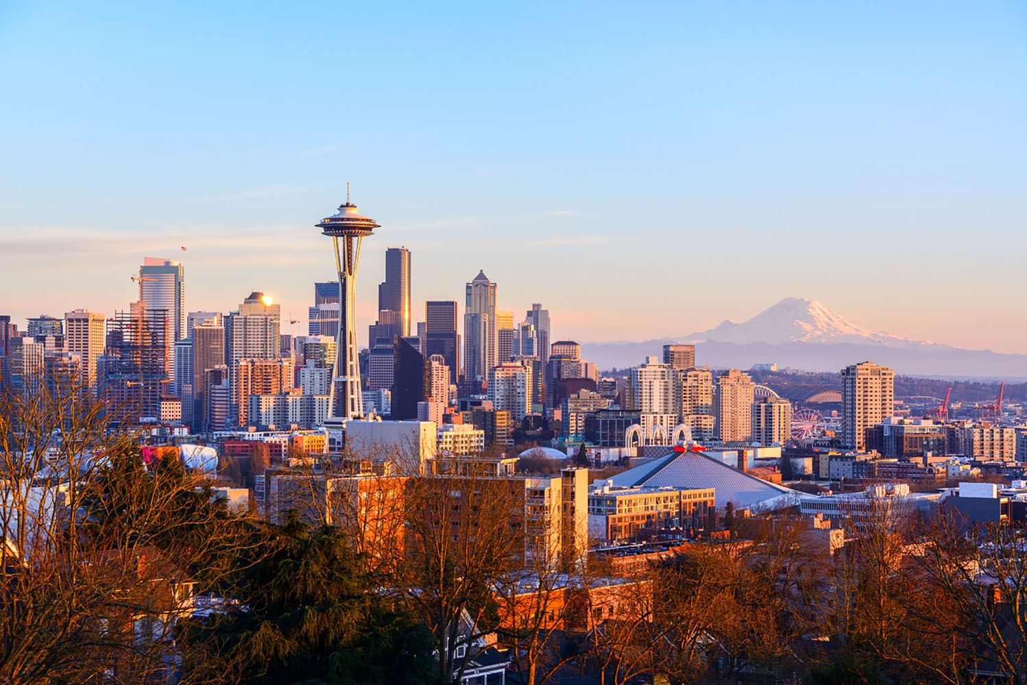 The Seattle, Washington skyline.