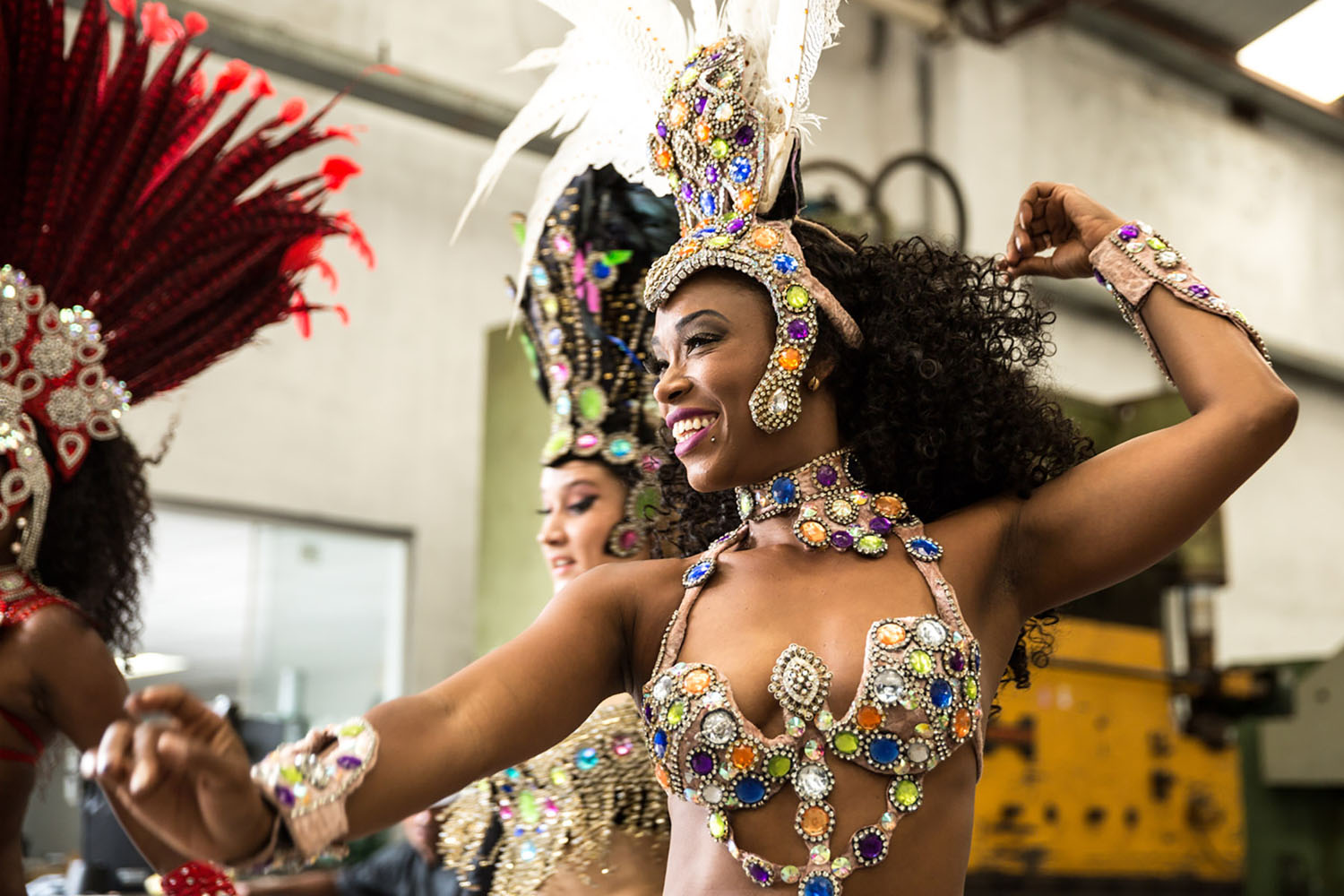Samba performers in Rio.