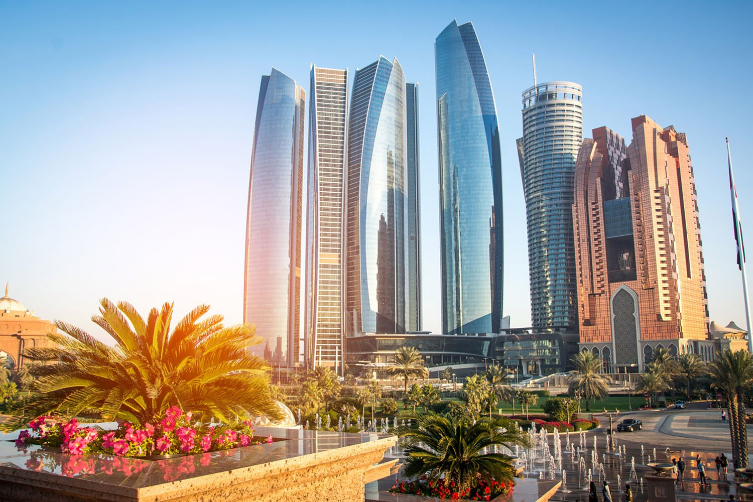 The Etihad Towers in Abu Dhabi