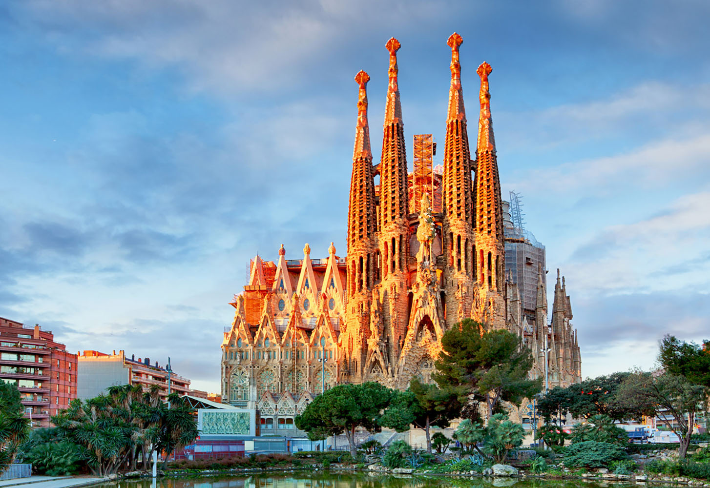The iconic Sagrada Familia Catholic church in Barcelona, Spain