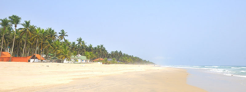 The sandy beaches of Grand Bassam in Abidjan, Ivory Coast
