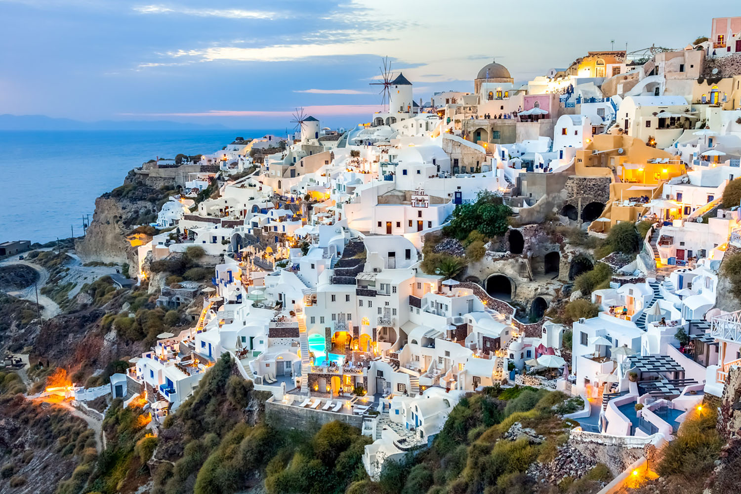 Santorini, Greece is home to both breathtaking views and ancient ruins.