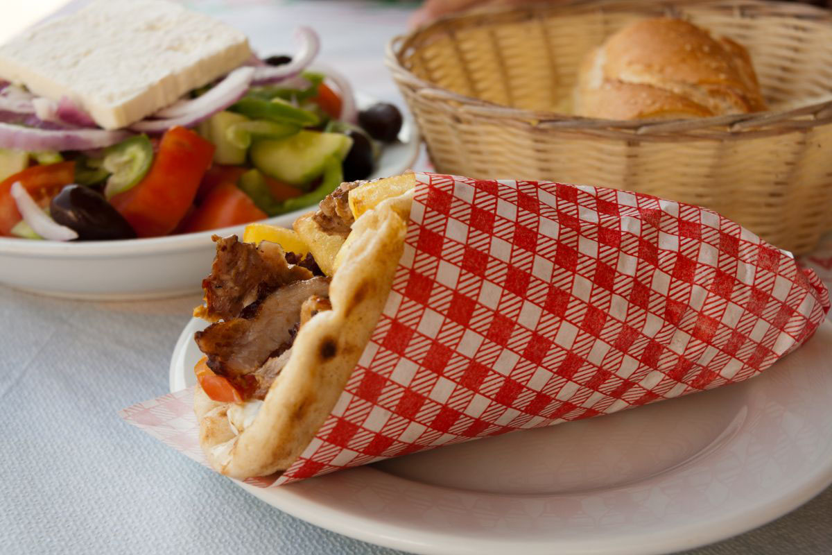 A gyro, Greece's most famous street food