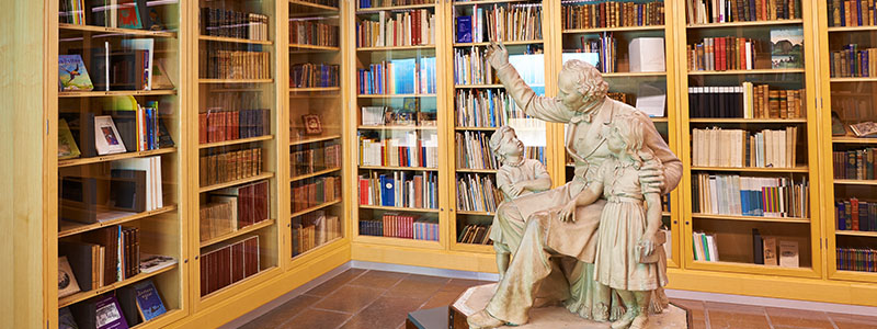 A statue in the Hans Christian Andersen's Home And Museum in Denmark