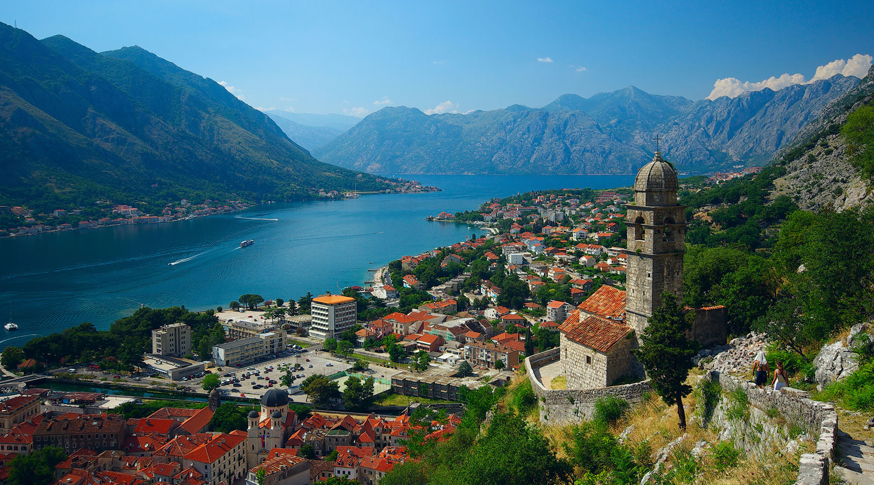Kotor, a coastal town in Montenegro on the Adriatic