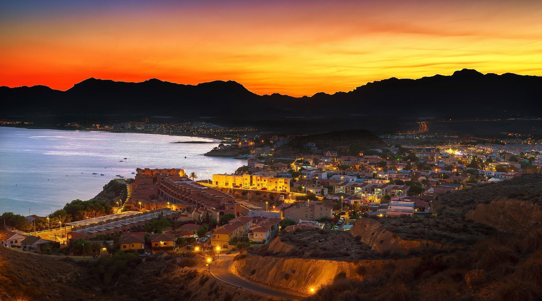 aerial view of the village of almeria spain