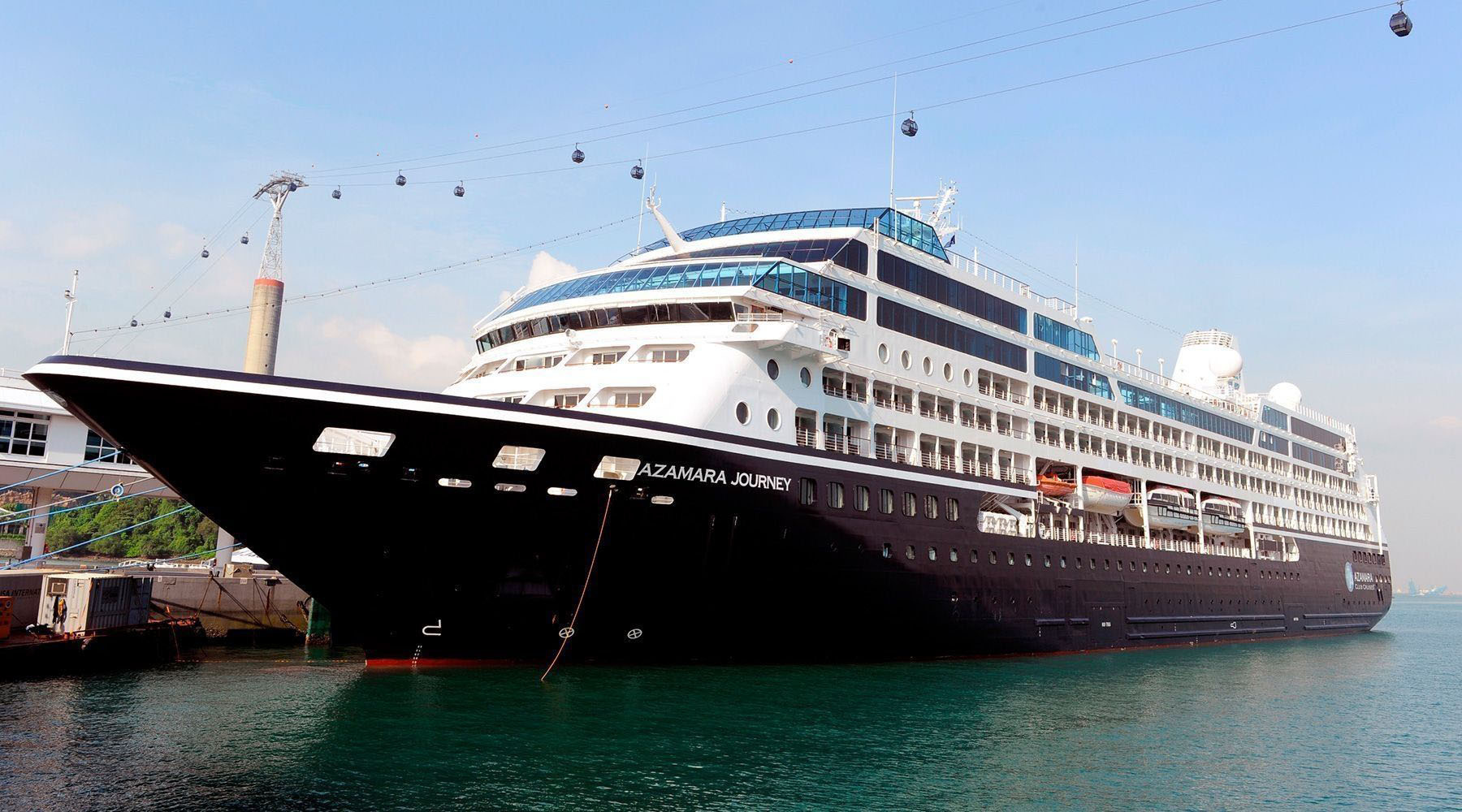 white and black azamara journey cruise ship photo