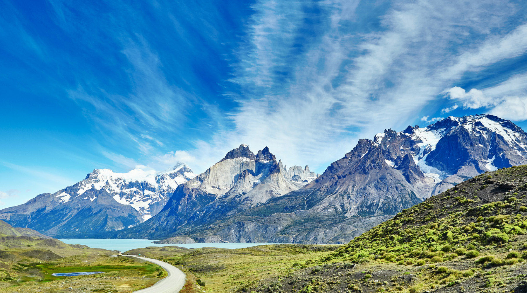 Mountains in Torres del Paine National Park in Chile.