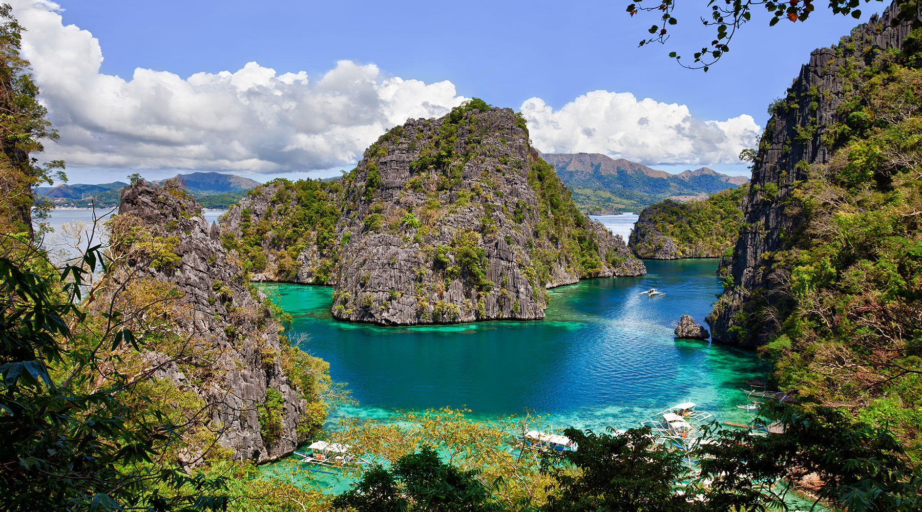 The lagoons of Coron, Palawan Philippines