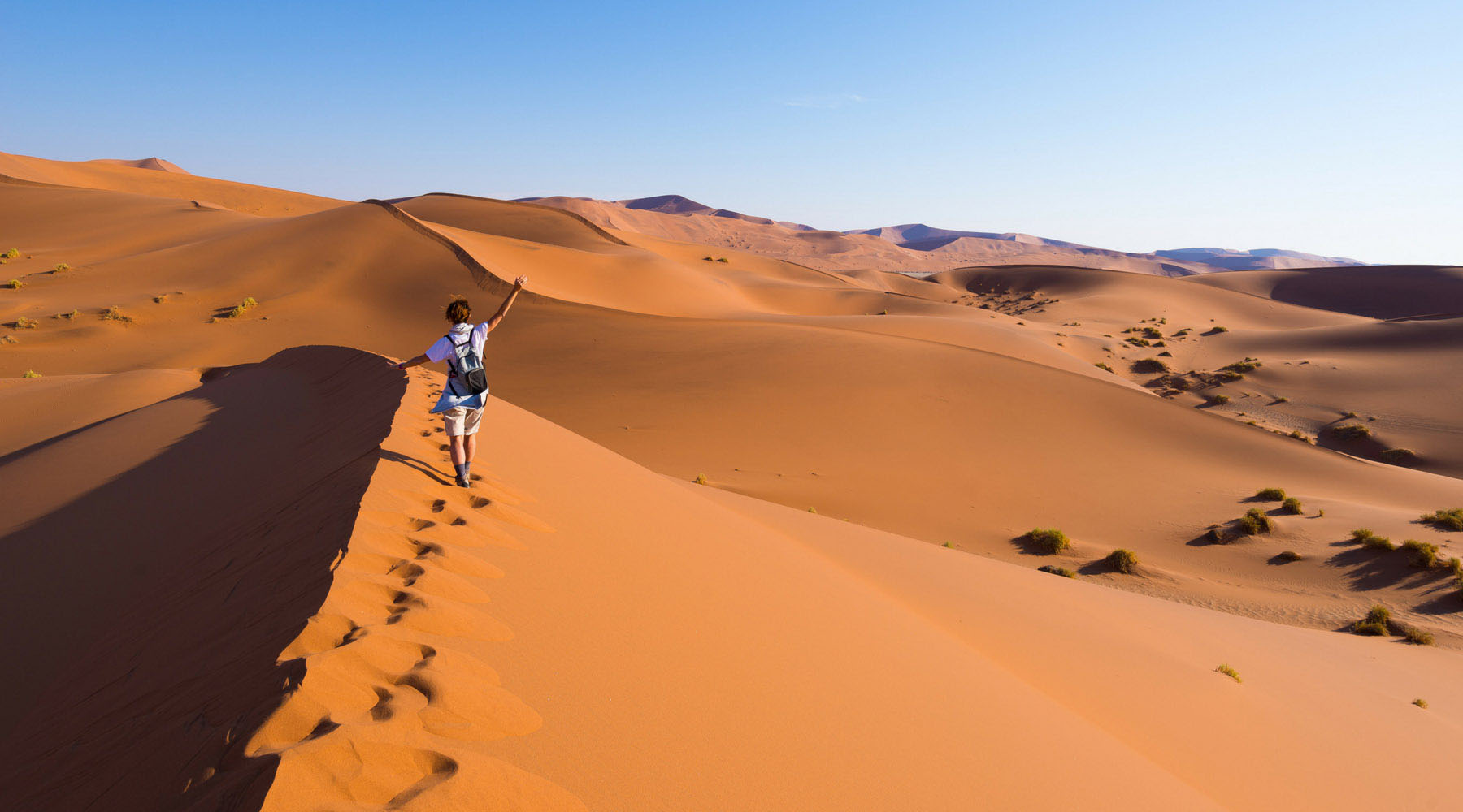 The desert in Namibia.