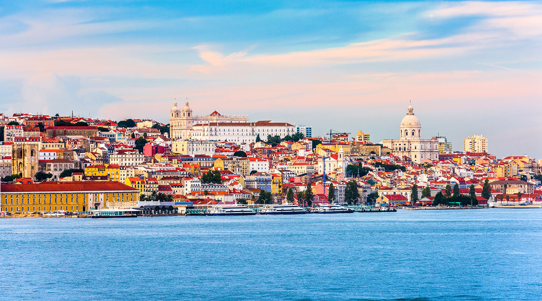Lisbon skyline from the water