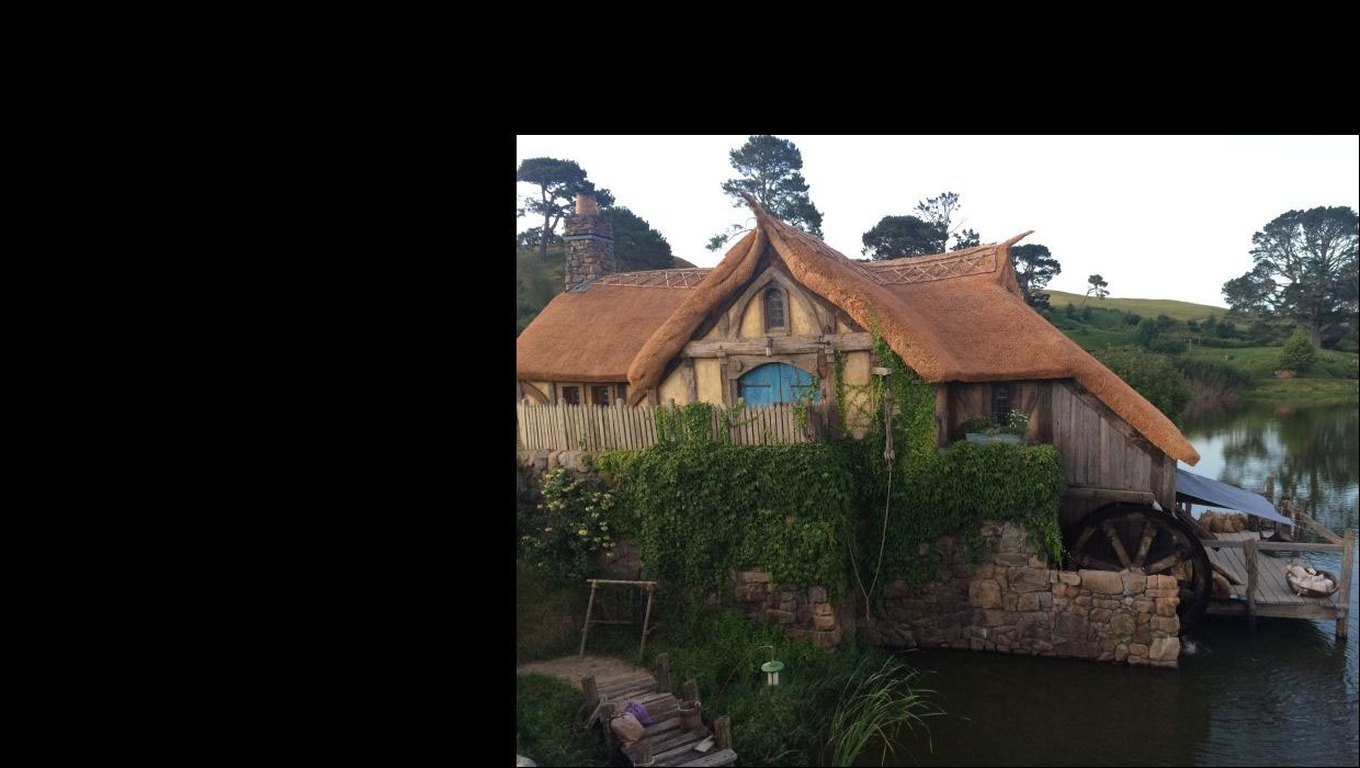 A hobbit house from the hobbiton movie set