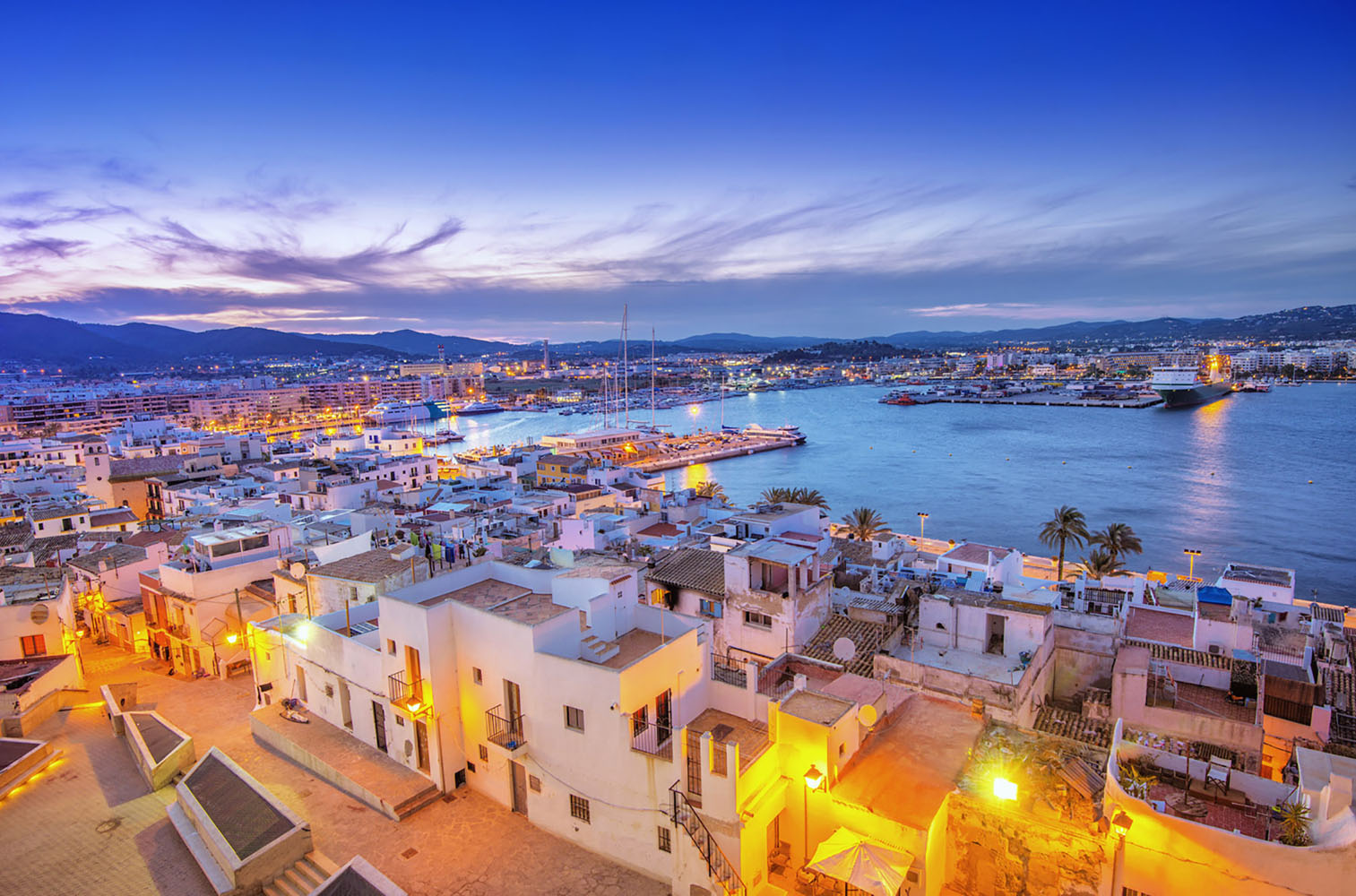 Ibiza, Spain is renowned for its lively nightlife scene.