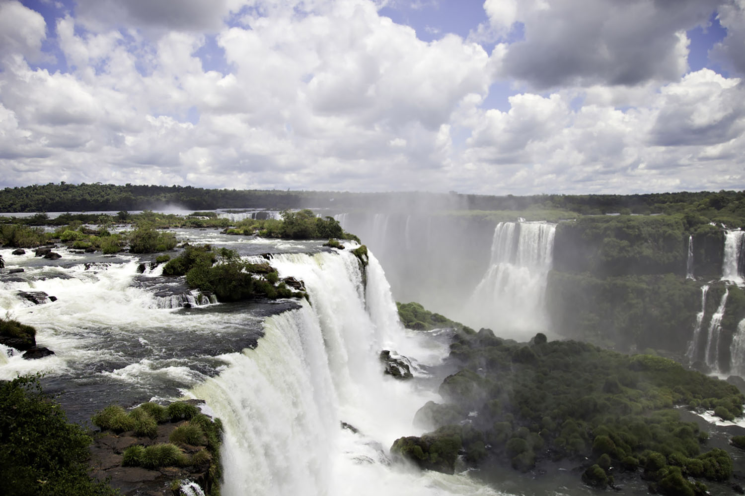 Iguazu Falls in South America.