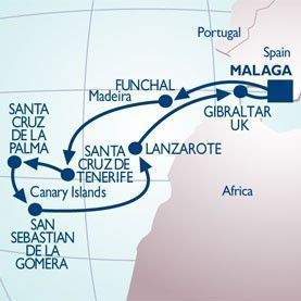 11 NIGHT MADEIRA & THE CANARIES VOYAGE - Itinerary Map