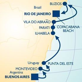 12 NIGHT CHRISTMAS & NEW YEAR'S VOYAGE - Itinerary Map