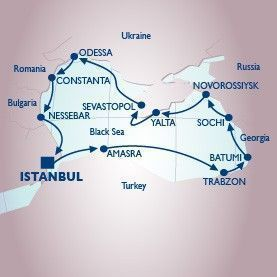 12 Night The Black Sea Voyage - Itinerary Map