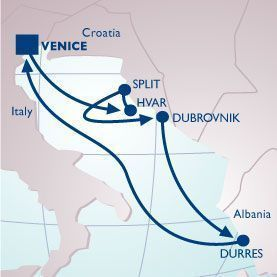 7 NIGHT PEARL OF THE ADRIATIC VOYAGE - Itinerary Map