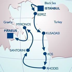 7 NIGHT TURKEY & GREEK ISLES VOYAGE - Itinerary Map